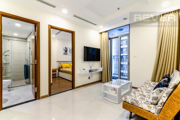 Phòng Khách Căn hộ Vinhomes Central Park 1 phòng ngủ tầng trung L6 hướng Tây Nam