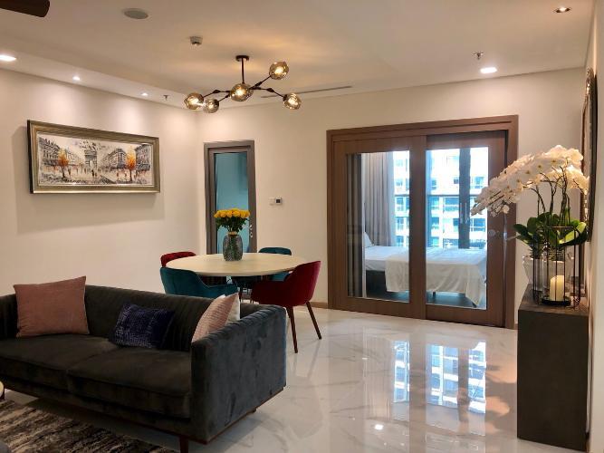 Phòng khách Vinhomes Central Park Căn hộ Vinhomes Central Park đầy đủ nội thất, tầng trung.