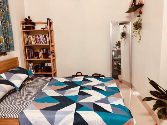 Phòng ngủ căn hộ dịch vụ Chu Văn An, Bình Thạnh Căn hộ dịch vụ Chu Văn An đầy đủ nội thất, gần chợ Bà Chiểu.