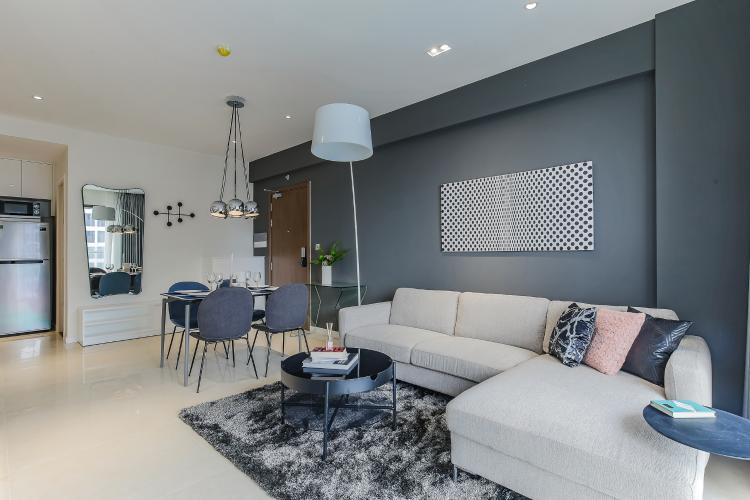 Căn hộ Masteri Millennium tầng cao view sông, 2PN đầy đủ nội thất
