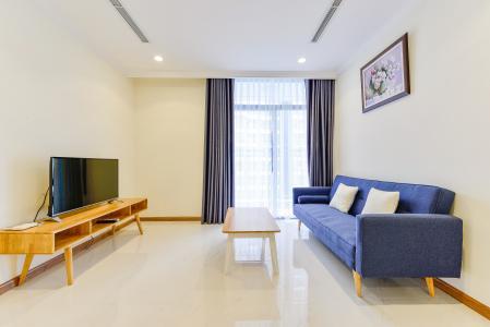 Căn hộ Vinhomes Central Park 1 phòng ngủ tầng cao L1, đầy đủ nội thất