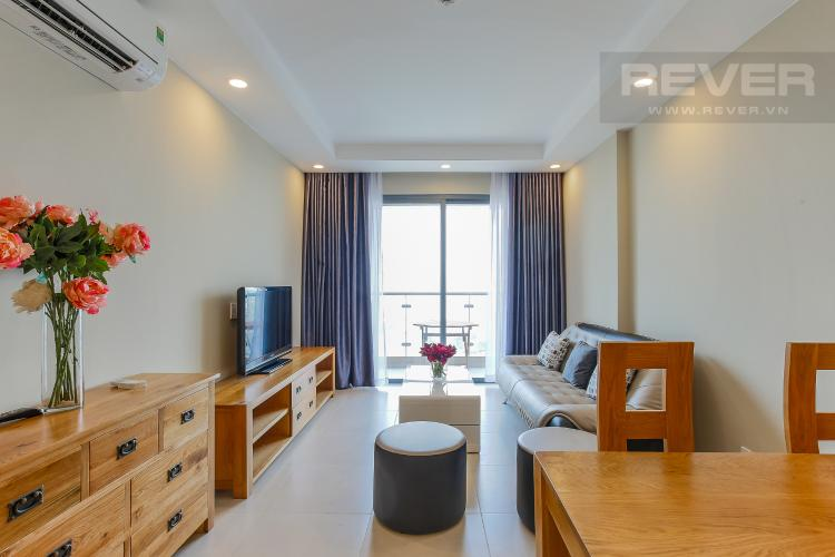 Phòng Khách Căn hộ The Gold View 2 phòng ngủ tầng cao A1 view sông