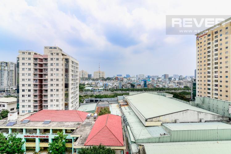 View Ban Công Căn hộ Chung Cư Khánh Hội 1 tầng thấp 2 phòng ngủ nội thất đầy đủ