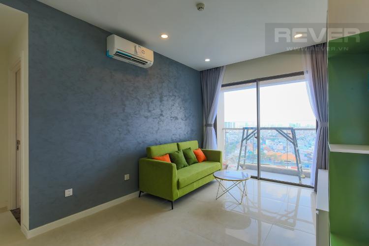 Phòng Khách Cho thuê căn hộ Masteri Millennium tầng trung 2PN đầy đủ nội thất