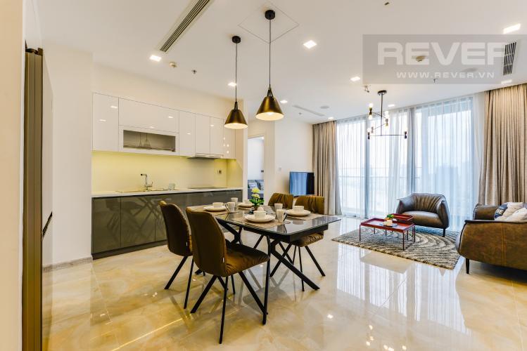 Bếp Cho thuê căn hộ Vinhomes Golden River tầng cao, 2PN đầy đủ nội thất, view sông thoáng đãng