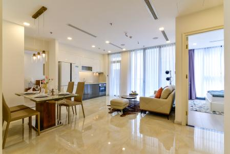 Cho thuê căn hộ Vinhomes Golden River 2PN, tầng cao, tháp The Aqua 1, đầy đủ nội thất