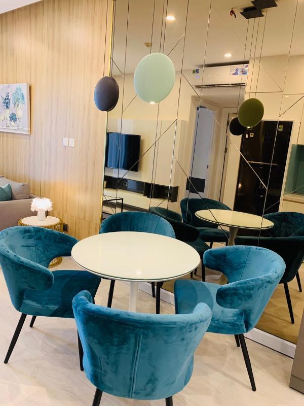 fc64322e56abb1f5e8ba Cho thuê căn hộ Saigon Royal 1 phòng ngủ, tầng 23, tháp A, đầy đủ nội thất, hướng Tây Bắc