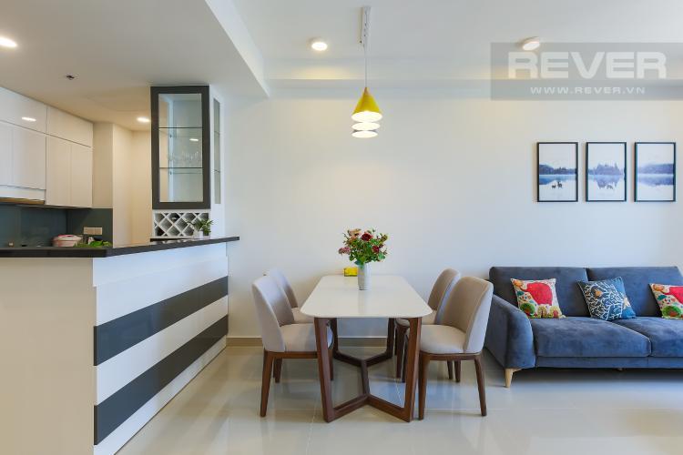 Bàn Ăn Căn hộ The Tresor 2 phòng ngủ tầng trung TS1 đầy đủ nội thất