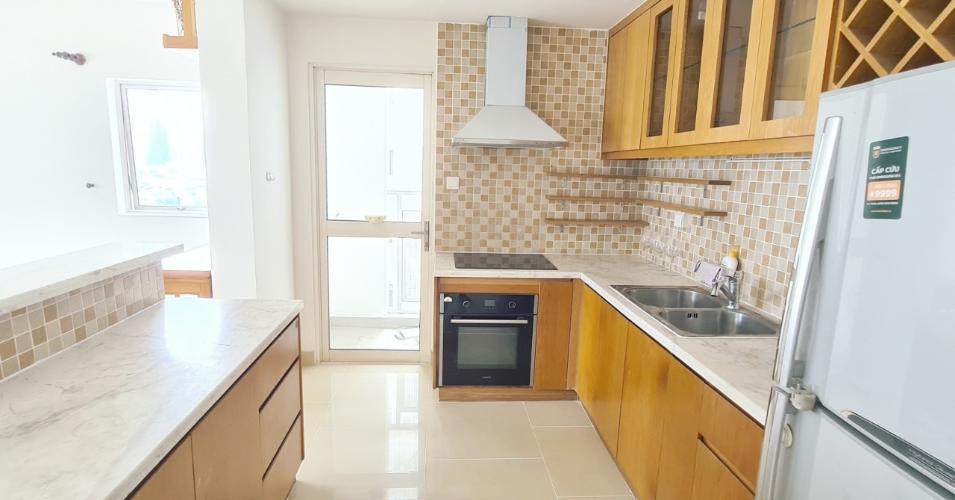 Phòng bếp căn hộ River Garden, Bán căn hộ số 3 tầng cao dự án River Garden, nội thất cơ bản