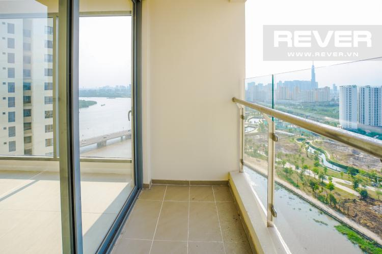 Ban Công Bán căn hộ Đảo Kim Cương 2 phòng ngủ tầng cao tháp Bora Bora, view Bitexco và sông Sài Gòn