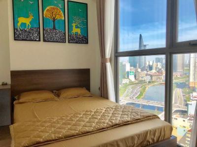 Bán căn hộ Masteri Millennium 2PN, diện tích 68m2, đầy đủ nội thất, căn góc view Bitexco