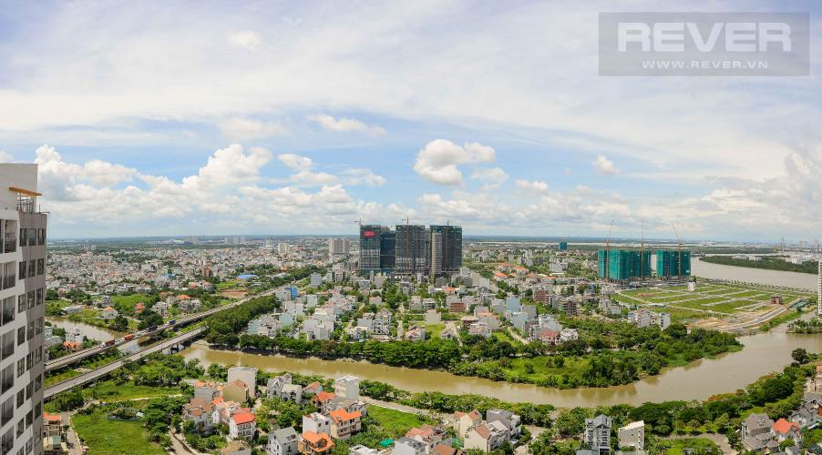 View Bán căn hộ The Sun Avenue 2PN, tầng cao, đầy đủ nội thất, view sông và hướng Đông Nam đón gió