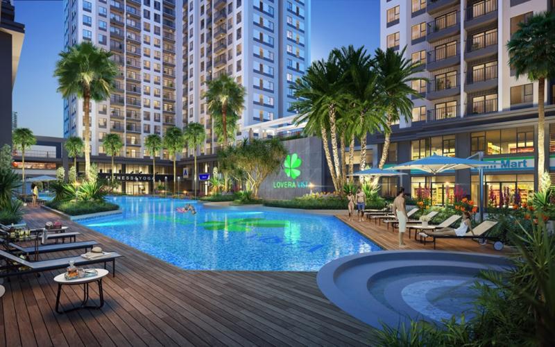 Bán căn hộ Lovera Vista tầng trung, diện tích 52.2m2, nội thất cơ bản.