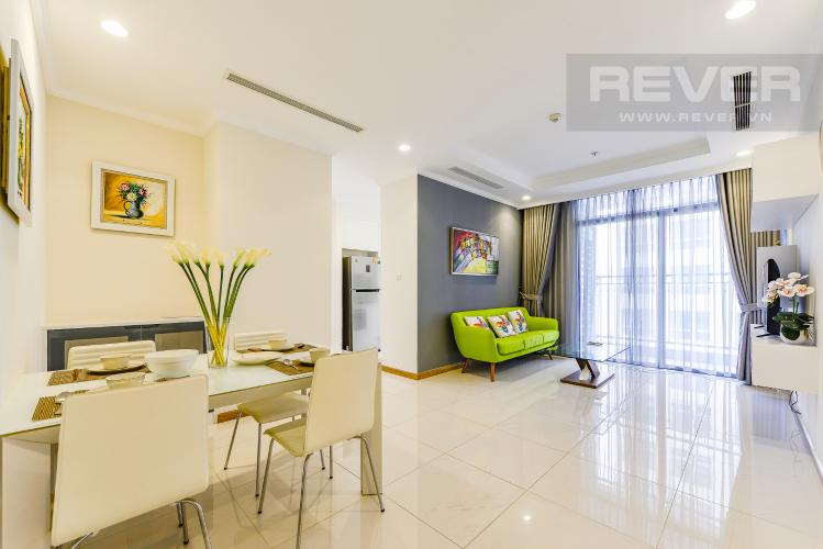 Phòng khách Căn hộ Vinhomes Central Park 2 phòng ngủ tầng cao L3 nội thất đầy đủ