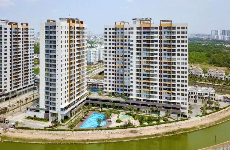 Tòa nhà căn hộ Mizuki Park Căn hộ Mizuki Park nội thất cơ bản, view cây xanh và sông.