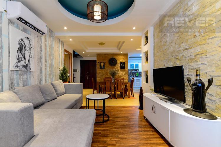 Phòng Khách Cho thuê căn hộ chung cư Phúc Thịnh diện tích 196m2 3PN 3WC, nội thất cao cấp, view thành phố