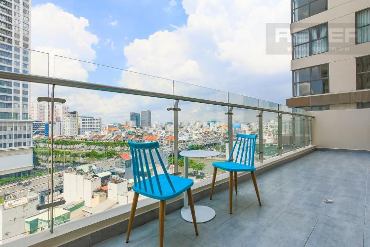 Balcony Cho thuê căn hộ Masteri Millennium tầng trung, có ban công, 2PN