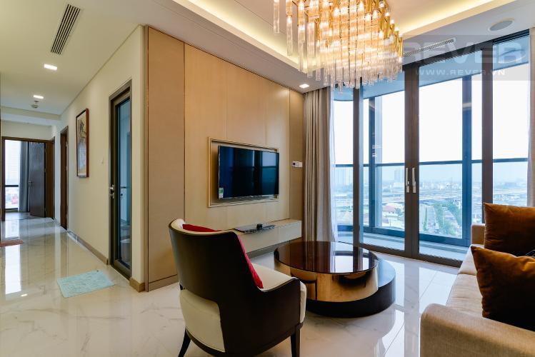 Phòng Khách Căn hộ Vinhomes Central Park tháp Landmark 81, 4PN 2WC, nội thất đầy đủ