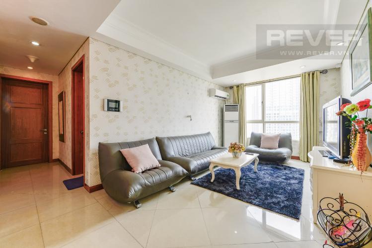 Phòng khách Căn hộ The Manor 3 phòng ngủ tầng cao AE đầy đủ tiện nghi