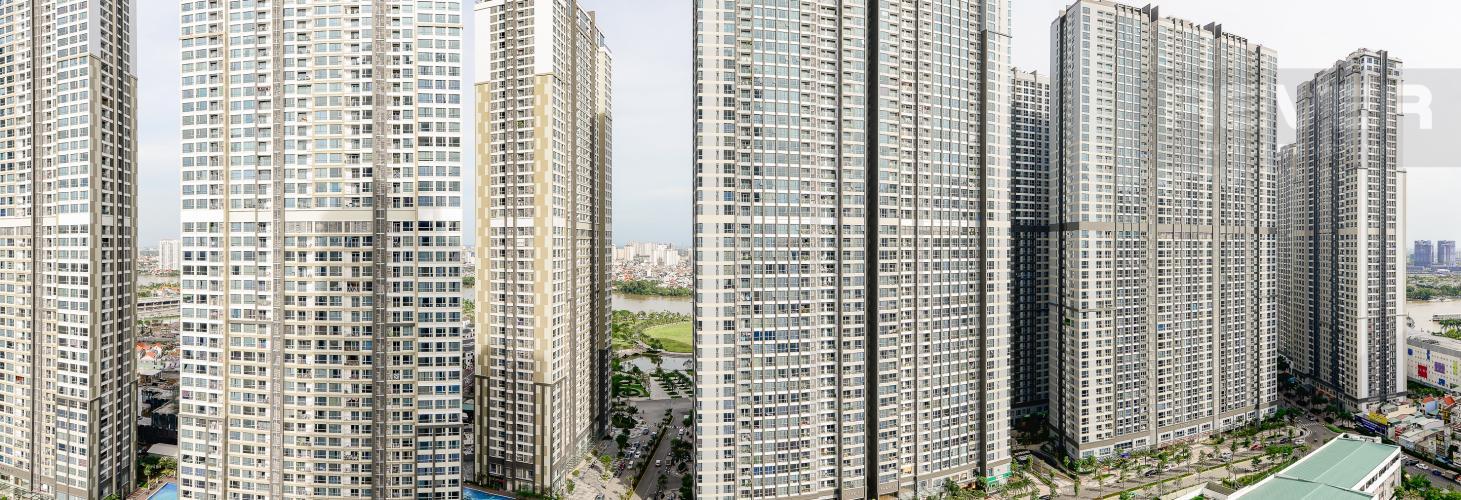 View Căn hộ Vinhomes Central Park 3 phòng ngủ tầng cao C3 đầy đủ nội thất