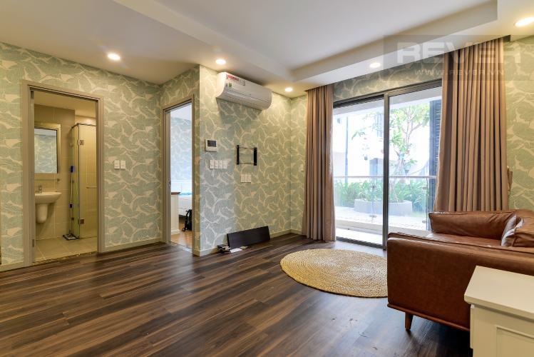 Phòng Khách Cho thuê căn hộ Officetel The Gold View 1 phòng ngủ, diện tích 50m2, đầy đủ nội thất