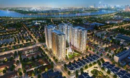 Bán căn hộ Victoria Village 1PN+1, diện tích 48m2, ban công Tây Bắc, view nội khu yên tĩnh