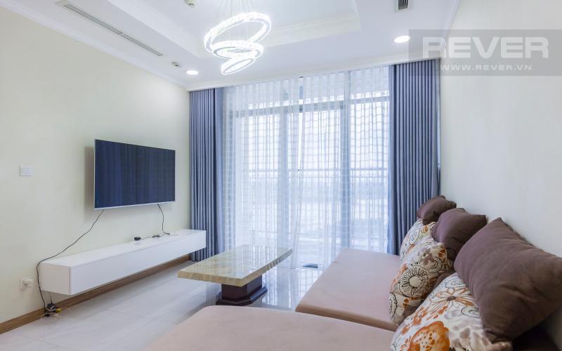Phòng khách Căn hộ Vinhomes Central Park tầng cao tháp C2 view đẹp