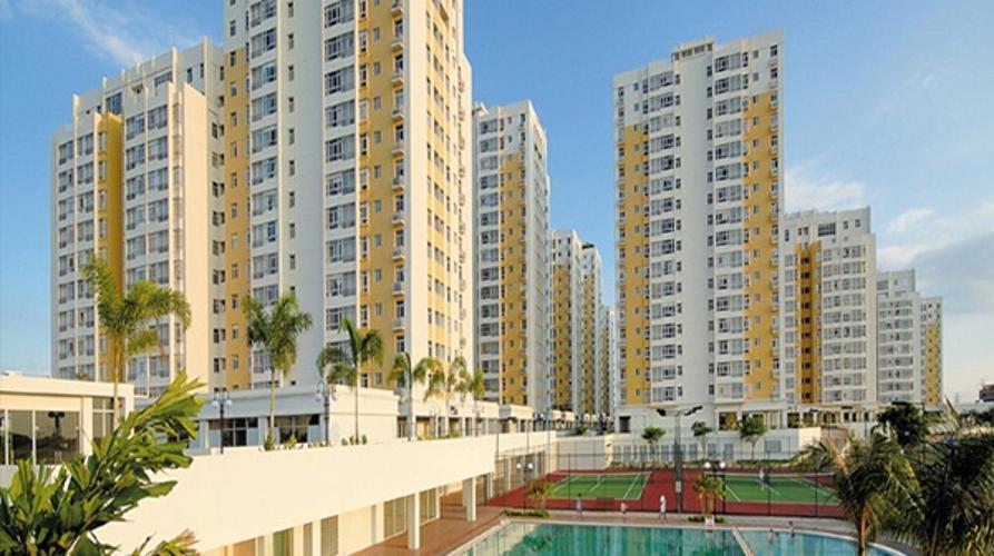 Tòa nhà căn hộ Sky Garden 3 Căn hộ Sky Garden 2 phòng ngủ thiết kế hiện đại, view thành phố.