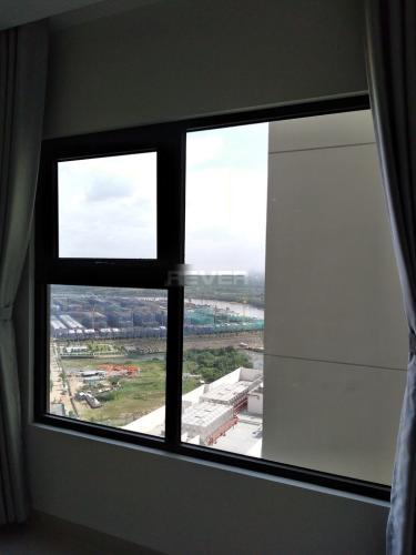 Phòng khách căn hộ Vinhomes Grand Park Căn hộ tầng cao Vinhomes Grand Park nội thất cơ bản, view thành phố.