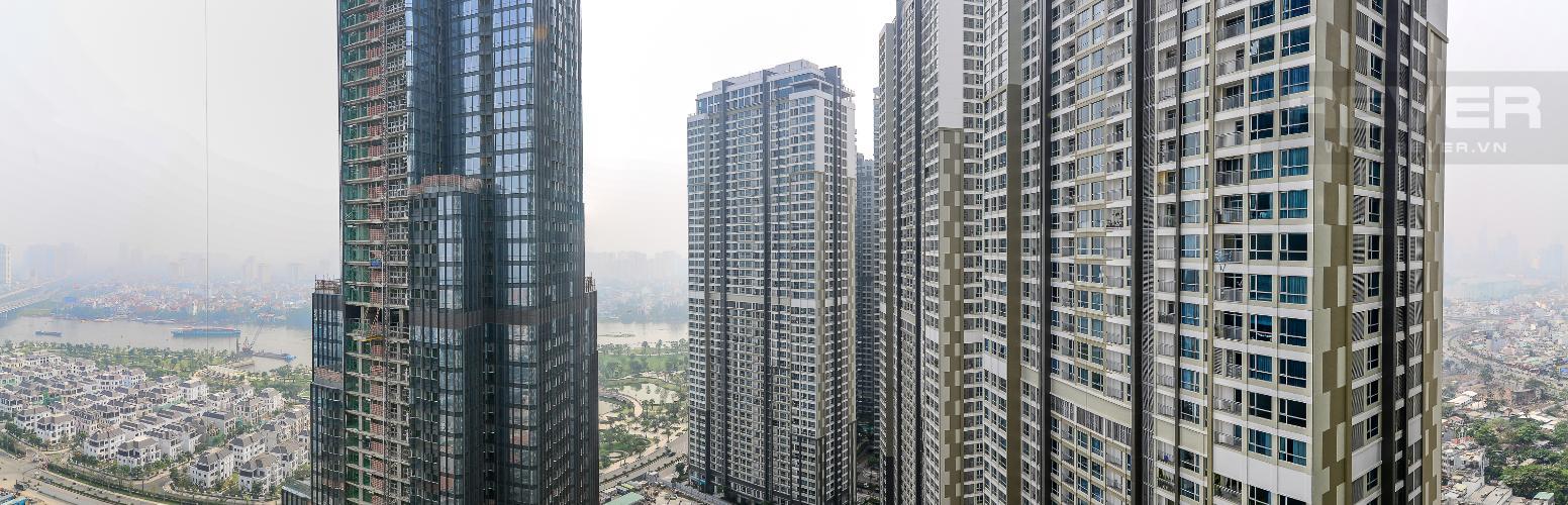 View Căn góc Vinhomes Central Park 3 phòng ngủ tầng cao L5 view sông