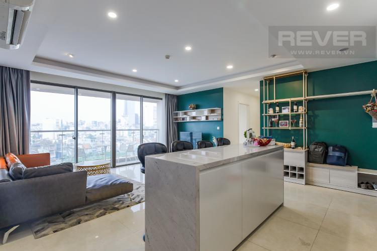 Đảo Bếp Cho thuê căn hộ Masteri Millennium 3PN, diện tích 107m2, đầy đủ nội thất, view Bitexco