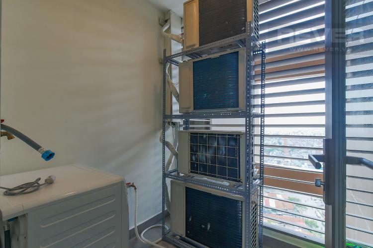 Logia Bán căn hộ Masteri Millennium tầng cao, block B, 3PN đầy đủ nội thất