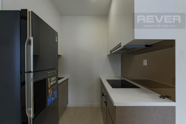 Phòng Bếp Cho thuê căn hộ Masteri Millennium 1PN 1WC, đầy đủ nội thất, view sông