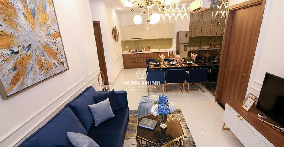Nhà Mẫu Dự Án Q7 Riverside Bán căn hộ Q7 Saigon Riverside thuộc tầng cao, diện tích 53m2 gồm 1 phòng ngủ, chưa bàn giao