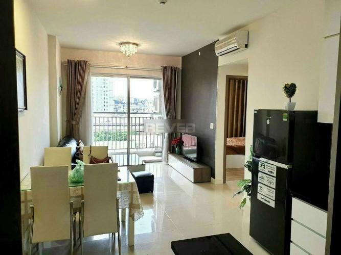 Phòng khách căn hộ Galaxy 9 Căn hộ Galaxy 9 tầng thấp đầy đủ nội thất, view thành phố.