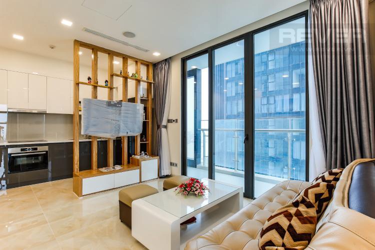 Phòng Khách Căn hộ Vinhomes Golden River tầng trung tòa Aqua 3 diện tích 57m2, đầy đủ nội thất