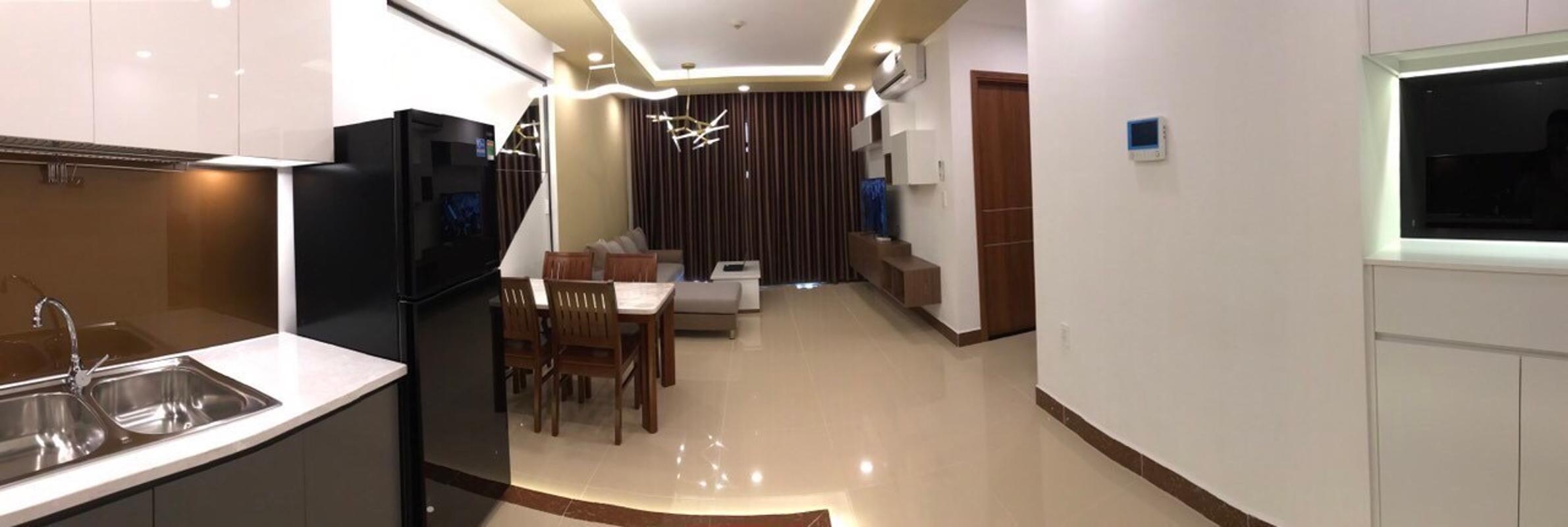 4 Bán căn hộ The Gold View 2PN, tầng trung, đầy đủ nội thất, hướng cửa Tây Nam