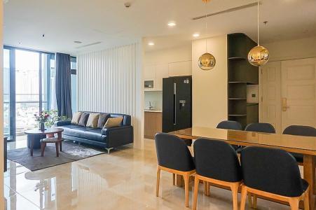 Cho thuê căn hộ Vinhomes Golden River 3PN, tháp The Aqua 2, đầy đủ nội thất, view sông thoáng mát