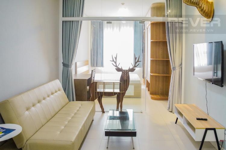 Phòng Khách Cho thuê căn hộ Lexington Residence 1PN, tầng trung, tháp LD, đầy đủ nội thất