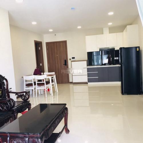 Căn hộ tầng trung De Capella đầy đủ nội thất, 2 phòng ngủ.