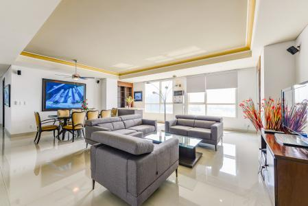 Penthouse The Manor 4 phòng ngủ tầng cao AW nội thất đầy đủ