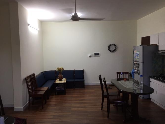 Căn hộ Topaz Garden tầng cao, sàn lót gỗ, đầy đủ nội thất.