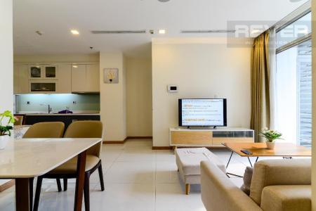 Cho thuê căn hộ Vinhomes Central Park 2PN, tầng thấp, diện tích 75m2, đầy đủ nội thất, view nội khu