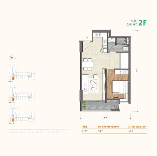 layout căn hộ Ricca Căn hộ Ricca nội thất cơ bản, ban công đón gió và ánh sáng tốt.