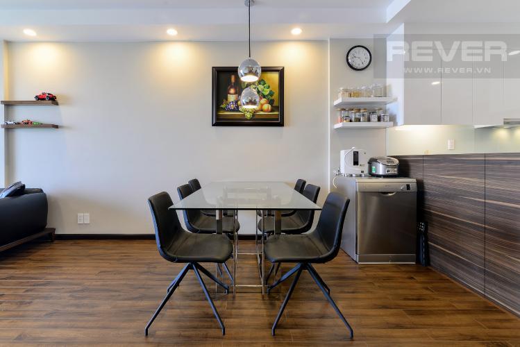 Phòng Ăn Bán căn hộ The Gold View 2PN, tháp A, đầy đủ nội thất, hướng Đông Bắc, view hồ bơi và kênh Bến Nghé