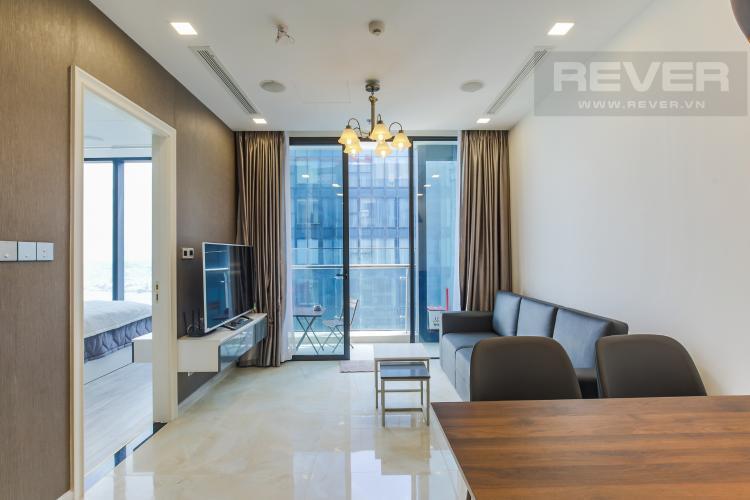 Phòng Khách Cho thuê căn hộ Vinhomes Golden River 2PN, tầng cao, đầy đủ nội thất, view sông Sài Gòn