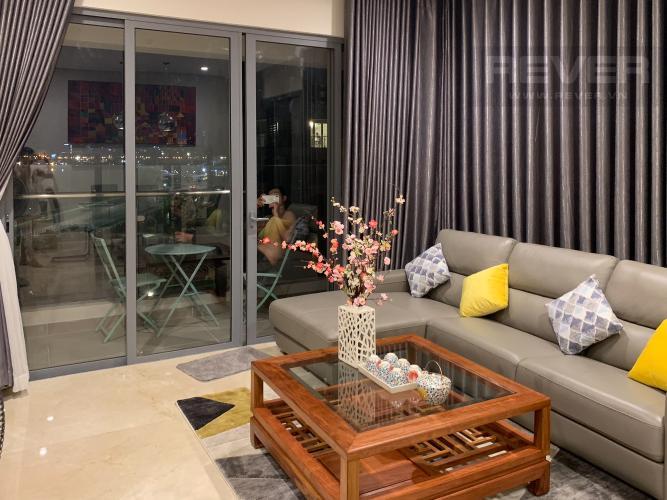 Phòng Khách Cho thuê căn hộ Diamond Island - Đảo Kim Cương, tháp Maldives, đầy đủ nội thất, view sông và Landmark 81