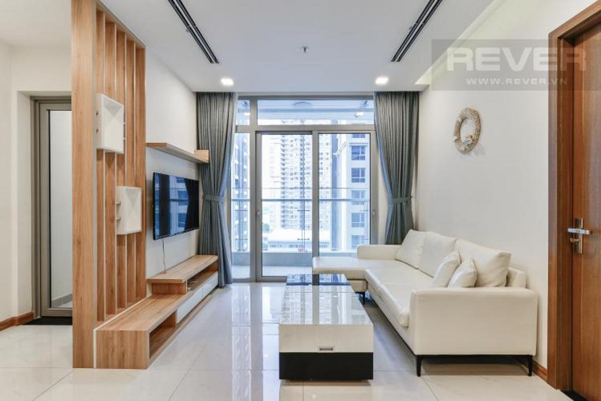 Phong Khach Bán căn hộ Vinhomes Central Park 2PN, diện tích 72m2, đầy đủ nội thất, view sông và công viên