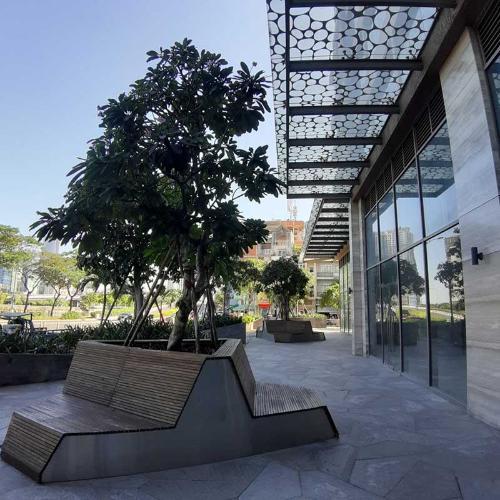 Mặt tiền shop-house Masteri Millennium Shophouse Masteri Millennium đầu tư kỹ lưỡng, ban giao thô.