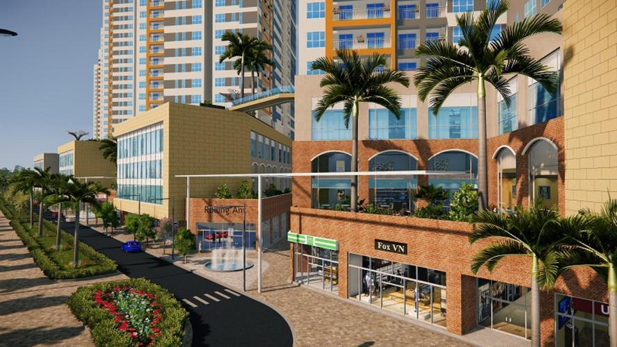 Phối cảnh khu thương mại của dự án The Sun Avenue
